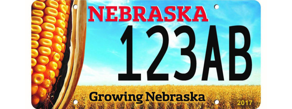 Nebraska Corn License Plate